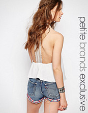 Glamorous Petite Lace Racer Back Top