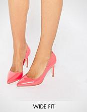 Faith Wide Fit Cliff Pink Cut Out Court Shoes