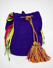 Jardin Del Cielo Wayuu Mochila Bag in Purple