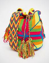 Jardin Del Cielo Wayuu Hand Woven Mochila Bag in Multi Brights