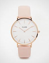 Cluse La Boheme Rose Gold & Pink Leather Watch CL18014