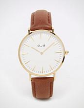 Cluse La Boheme Gold Tan Leather Watch CL18408