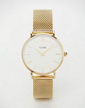 Cluse Minuit Gold Mesh Watch CL30010