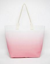 South Beach Pink Ombre Beach Bag