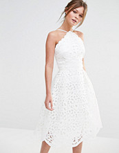 Chi Chi London High Neck Cutwork Midi Prom Dress