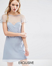 Reclaimed Vintage Flirty Dress With Sheer Arm Detail