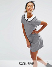 Reclaimed Vintage Smock Dress With Contrast Collar