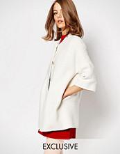 Helene Berman White Texture Kimono Jacket