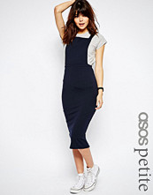 ASOS Petite Column Pinafore Dress In Midi Length