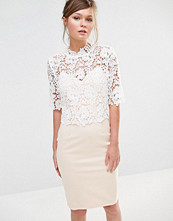 Paper Dolls High Neck Lace Dress with Pencil Skirt