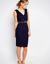Elise Ryan 2 In 1 Lace Top Pencil Dress