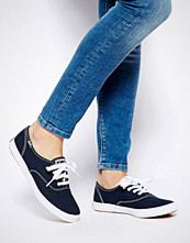 Keds Champion Canvas Navy Plimsoll Shoes