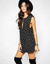 Free People Ashley Linen Playsuit