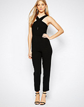 Bcbgeneration Cross Front Jumpsuit in Black