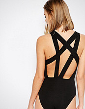 Daisy Street Strappy Back Jersey Bodysuit