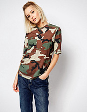 Weekday Camouflage T-Shirt With Pockets