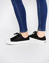 Converse All Star Chuck Taylor Black White Ox II Plimsoll Trainers