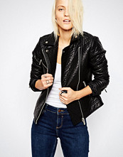 ASOS Textured Faux Leather Biker Jacket
