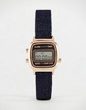 ASOS Rose Gold & Denim Digital Watch
