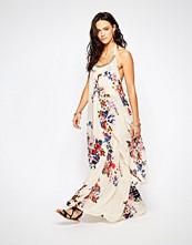 Raga Feeling Floral Halter Maxi Dress