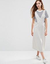 Shades Of Grey V Neck Pinafore Dress
