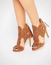 Missguided Lazer Cut Heeled Sandals