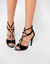 Missguided Metallic Strappy Heeled Sandal