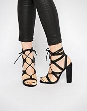 Missguided Plaited Block Heeled Sandals