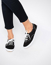 Keds Champion Canvas Black & White Plimsoll Shoes