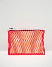 ASOS Contrast Mesh Zip Top Make Up Bag