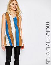 Bluebelle Maternity V-Neck Stripe Tunic Top