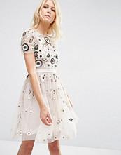 Needle & Thread Tulle Woodland Lace Embellished Dress