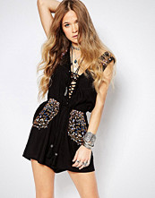 Glamorous Playsuit With Festival Embroidery