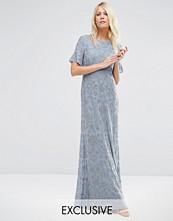 Needle & Thread Linear Flower Maxi Dress