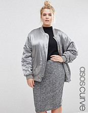 ASOS Curve Luxe Bomber Jacket In Satin