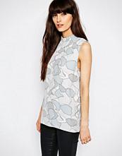 Selected Ruba Sleeveless Top in Lunar Rock Print