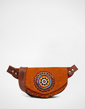 Hiptipico Handmade Beaded Suede Leather Bumbag