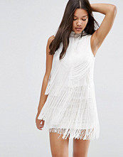 ASOS Premium Fringe Drapey 20s Mini Shift Dress