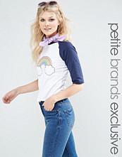 Glamorous Petite Rainbow Retro Raglan T-Shirt