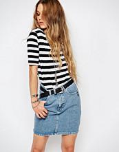 Glamorous Striped Longline T-Shirt With Split Sides