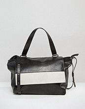 Urbancode Leather Shoulder Bag With Contrast Flap Detail