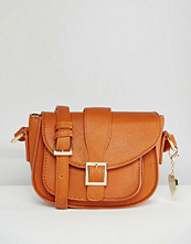 Marc B Cross Body Bag With Buckle Detail