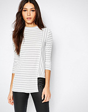 Daisy Street Asymetric Stripe Top