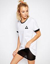 Le Coq Sportif White Oversized Boyfriend Ringer T-Shirt