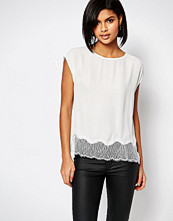 Selected Faba Top with Lace Trim