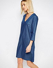 Just Female Branch Tunic Dress in Denim