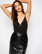 Missguided Lace Trim Bodysuit