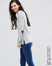 Asos Tall Jumper With Navy Star Elbow Patch