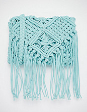South Beach Crochet Cross Body Bag in Pale Blue