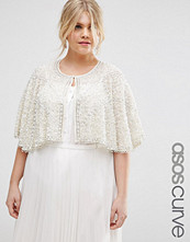 ASOS Curve Occasion Cape with Pearl Beads
